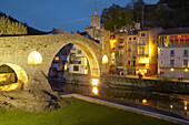 Pont Nou (12th century), Camprodón. Ripollès Region. Girona Province. Catalonia. Spain