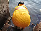 Woman in the Ganges river. Varanasi (Banaras), Uttar Pradesh. India