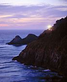 Heceta Head Light at sunset. Pacific Ocean. Oregon Coast. Lane County. Oregon. USA.