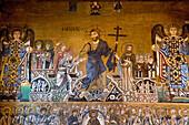 Mosaic of the Last Judgement in Cathedral of Santa Maria Assunta, Church, Torcello, Venice, Laguna, Veneto, Italy