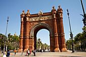 Arc de Triompf, El Born, Barcelona, Catalonia, Spain