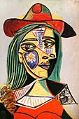 Pablo Picasso painting, Museu Nacional d'Art de Catalunya, Palau Nacional, Montjuïc, Barcelona, Catalonia, Spain