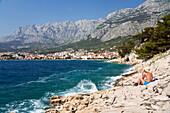 rocky coast near Makarska, Dalmatia, Croatia