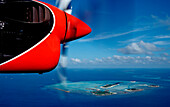 Aerial View of Maldives, Maldives, Indian Ocean, South-Male Atoll, Dhigufinolhu, Veligandu, Bodu Huraa