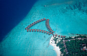 Aerial View of Maldives Island, Maldives, Indian Ocean, South-Male Atoll