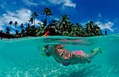 Skin Diving at Maldives, Maldives, Indian Ocean, Medhufushi, Meemu Atoll