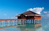 Waterbungalow on Maldivian Island, Maldives, Indian Ocean, Medhufushi, Meemu Atoll