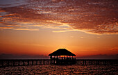 Sunset on Maldives, Maldives, Indian Ocean, Medhufushi, Meemu Atoll