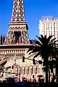 Außenansicht von Hotel und Casino Paris, Las Vegas, Nevada, USA, Amerika