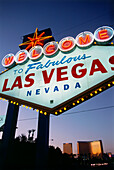 Entrance sign to Las Vegas, Nevada, USA, America