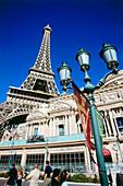 Außenansicht des Hotel und Casinos Paris, Las Vegas, Nevada, USA, Amerika