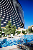 Pool area of Hotel Wynn, Las Vegas, Nevada, USA, America