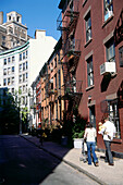 City life in Greenwich Village, Manhattan, New York, USA, America