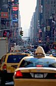 City traffic in Midtown Manhattan, New York, USA, Amerika