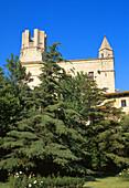Incomplete bell tower of Sant Genís church (built 18th century). Torroella de Montgrí. Girona province. Spain