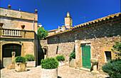 Main square. Peralada. Girona province. Spain
