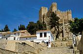 Stairs. Old town. Medieval castle. Almansa. Castilla la Mancha. Albacete. Spain.