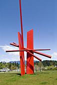 Sculpture Jaguar by American sculptor John Henry, part of the Vancouver Sculpture Biennale, Vancouver, BC