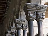 Capitals, Romanesque monastery of Santa María de Ripoll (12th century), Ripoll. Girona province, Catalonia, Spain