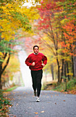 Jogger on country road
