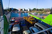 Cars on Likoni ferry, Mombasa, Kenya