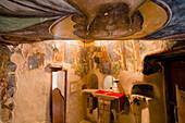 Fresco in Neofytos monastary, UNESCO World Heritage Site, near Paphos, South Cyprus, Cyprus