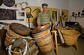 Local history museum with traditional farming equipment, Fythi, Troodos mountains, South Cyprus, Cyprus