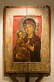 Holy Icon in the museum at Kykkos monastery, Troodos mountains, South Cyprus, Cyprus