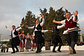 Folk dance at the easter games, Folklore, Kissonerga, near Paphos, South Cyprus, Cyprus