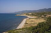 North coast, coastal landscape and coast road to Karpasia, Karpass Peninsula, North Cyprus, Cyprus