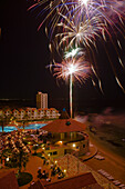 Candlelight dinner and fireworks near the pool at Salamis Bay Conti Resort Hotel, Salamis, North Cyprus, Cyprus