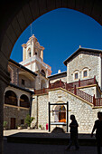 Courtyard of Kykkos monastery, Troodos mountains, South Cyprus, Cyprus