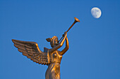 Angel sculpture and moon, Lions Garden Disco, Famagusta, Ammochostos, Gazimagusa, Cyprus