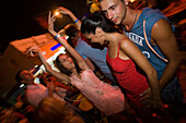 A group of young people dancing in front of a club, bar, nightlife, Agia Napa, Cyprus