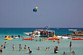 People bathing in the sea, Nissi beach, Agia Napa, South Cyprus, Cyprus
