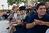 Spectators watching a Cypriot Folk dance, Commandaria Wine Festival, Limnati, Cyprus