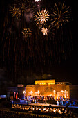 Opera Performance of A Masked Ball by Verdi with fireworks, Pafos Aphrodite Festival, Verdi Opera Un Ballo in Maschera, by The Mariinsky Theatre of St. Petersburg, Pafos castle, Cyprus