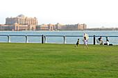 View of the Emirates Palace Hotel, Abu Dhabi, United Arab Emirates, UAE