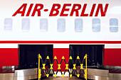 Baggage Conveyor Belt of Air Berlin Airlines, Germany