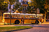 Sightseeing in a traditional coach, Leipzig, Saxony, Germany