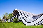 Paul Klee Centre, Landscape sculptur, Museum, designed by Italian architect Renzo Piano, Berne, Switzerland