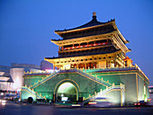 The Bell Tower built during the Ming dynasty. Sian. China