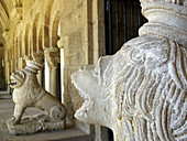 Tui cathedral, cloister. Spain.