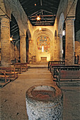 Central apsis. Sant Climent de Taüll Romanesque church. Boí valley. Pyrenees mountains. Catalonia. Spain.