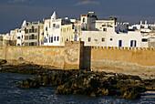 Kasbah skala seen from the harbour Skala. Essaouira (Mogador). Morocco.