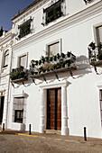 Façades, Aracena. Huelva province, Andalusia, Spain