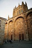 Façade of cathedral, Salamanca. Castilla-León, Spain
