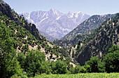 Rumbur Valley in Kafiristan Valleys. Indukush Mountain Range. Pakistan