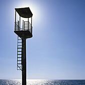 Lifeguard s tower. Cabo de Gata. Spain