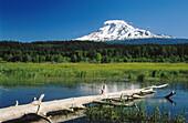Mount Adams and Trout Lake. Washington. USA